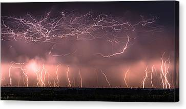 Electric Panoramic V Canvas Print