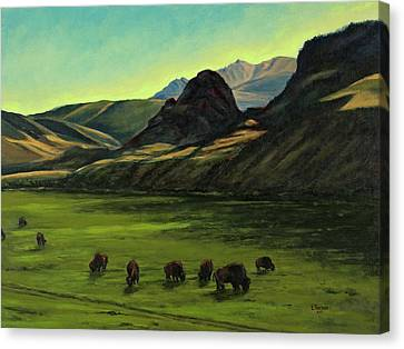 Electric Peak From Slip And Slide Ranch Canvas Print