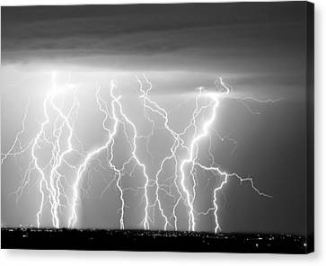 Electric Skies In Black And White Canvas Print