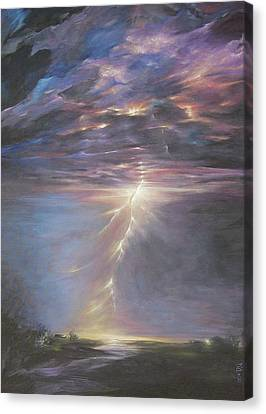 Electric Sky Canvas Print