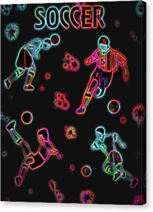 Electric Soccer Poster Canvas Print