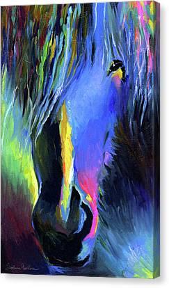 Horse Giclee Canvas Print - electric Stallion horse painting by Svetlana Novikova