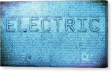 Electric Text Canvas Print by Denise Beverly