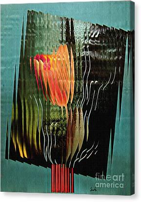Electric Tulip 2 Canvas Print by Sarah Loft