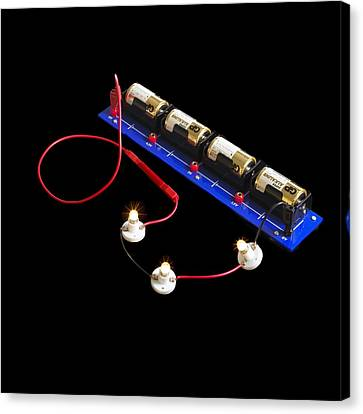 Electrical Circuit Canvas Print by