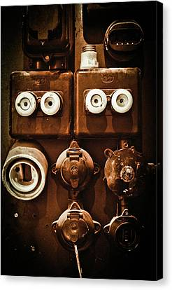 Electrical Panel Canvas Print by Bobby Villapando