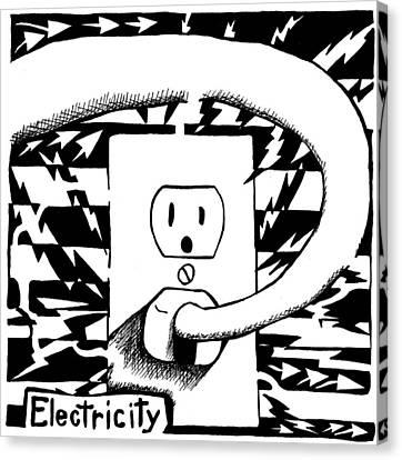 Electricity Maze Canvas Print by Yonatan Frimer Maze Artist