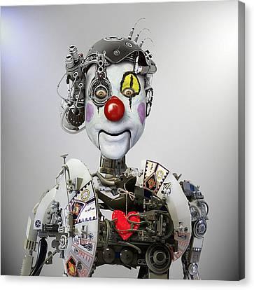 Electronic Clown Canvas Print by Ddiarte