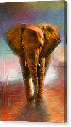 Elephant 1 Canvas Print by Caito Junqueira
