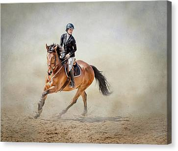 Elegance In The Dust Canvas Print by Debby Herold