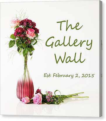 Canvas Print featuring the photograph Elegance-the Gallery Wall Logo by Wendy Wilton