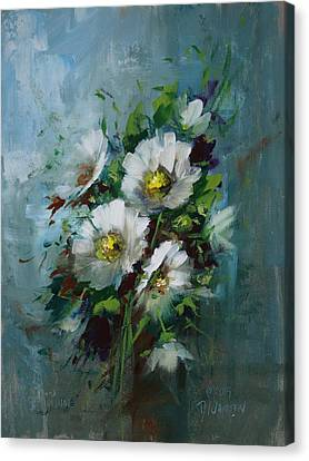 Elegant Blossoms Canvas Print by David Jansen