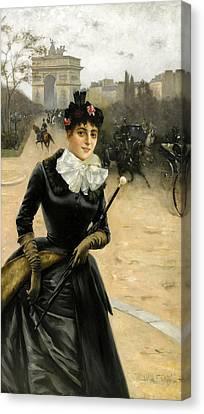 Elegant Dam Canvas Print by William
