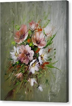 Elegant Flowers Canvas Print by David Jansen