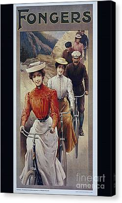 Elegant Fongers Vintage Stylish Cycle Poster Canvas Print