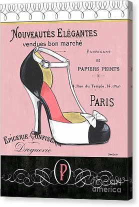 Elegant French Shoes 1 Canvas Print by Debbie DeWitt