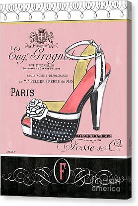 Elegant French Shoes 2 Canvas Print by Debbie DeWitt