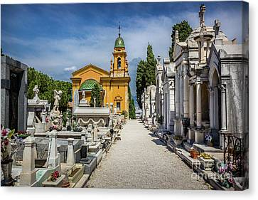 Elegant Gravesites On Castle Hill In Nice, France Canvas Print by Liesl Walsh