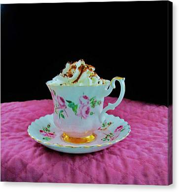 Elegant Hot Chocolate Canvas Print by Sharon Ackley