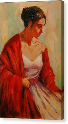 Elegant Lady Canvas Print by Billie Colson