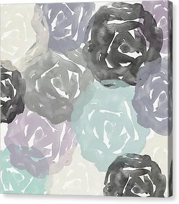 Elegant Roses- Art By Linda Woods Canvas Print by Linda Woods