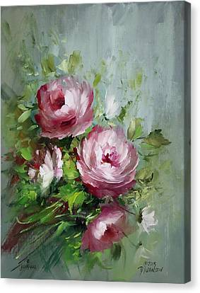 Elegant Roses Canvas Print by David Jansen