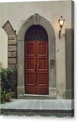 Canvas Print featuring the photograph Elegant Tuscan Door by Michael Flood