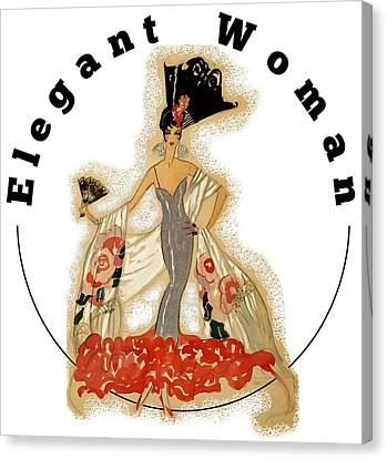 Canvas Print featuring the digital art Elegant Woman by Robert G Kernodle