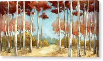 Elegantredforest Canvas Print by Mauro DeVereaux