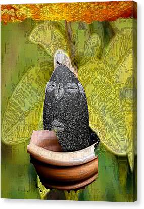 Eleggua Guava Canvas Print by Liz Loz