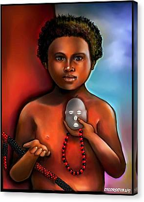 Elegua -child Orisha Canvas Print by Carmen Cordova