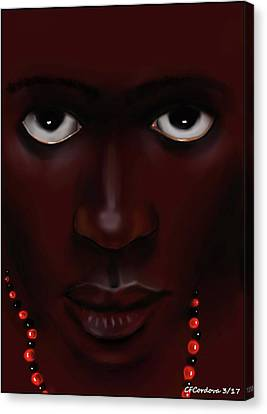 Elegua -young Man Canvas Print by Carmen Cordova