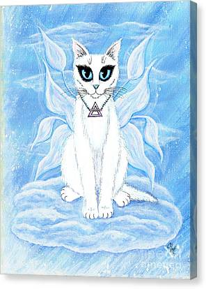 Elemental Air Fairy Cat Canvas Print by Carrie Hawks