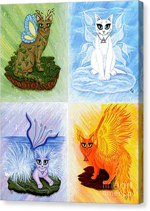Elemental Cats Canvas Print by Carrie Hawks