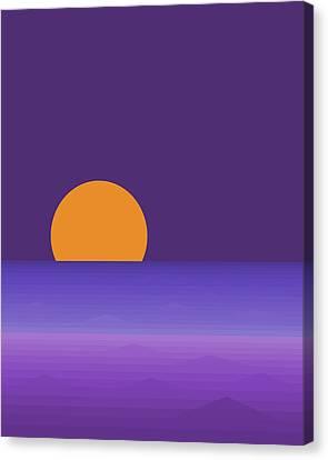 Elements - Lavender Sea - Purple Canvas Print