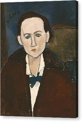 Elena Povolozky Canvas Print by Amedeo Modigliani