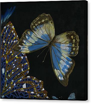 Elena Yakubovich - Butterfly 2x2 Top Right Corner Canvas Print by Elena Yakubovich