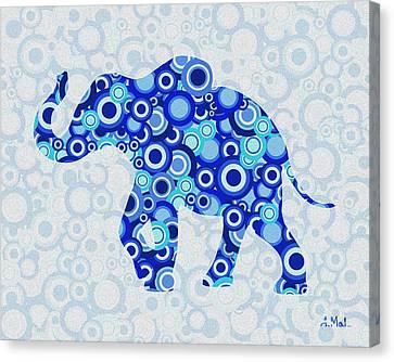 Style Canvas Print - Elephant - Animal Art by Anastasiya Malakhova