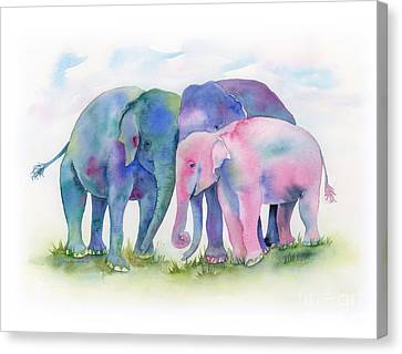 Elephant Hug Canvas Print by Amy Kirkpatrick