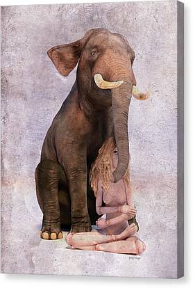 Doll Canvas Print - Elephant In The Room by Betsy Knapp