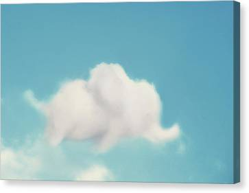 Shower Canvas Print - Elephant In The Sky by Amy Tyler