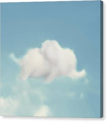Elephant In The Sky - Square Format Canvas Print by Amy Tyler