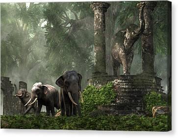 Elephant Kingdom Canvas Print