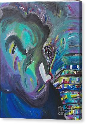 Whispering Wizard Lucky Elephant Canvas Print