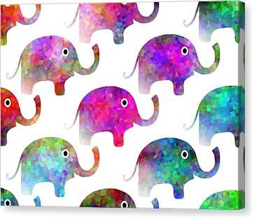 Elephant Parade Canvas Print by Kathleen Sartoris
