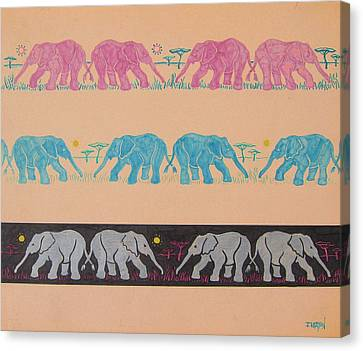 Elephant Pattern Canvas Print by John Keaton