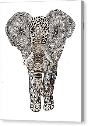 Elephant Canvas Print by Sharon White