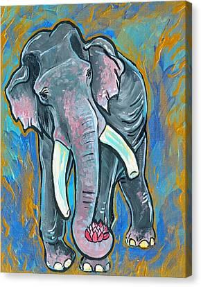 Elephant Spirit Dreams Canvas Print by Jenn Cunningham