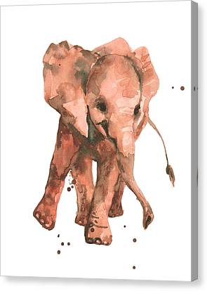 Elephant Sway Canvas Print by Alison Fennell