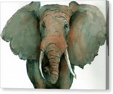 Elephant Up Close Canvas Print